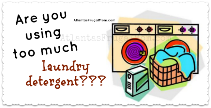 Are you using too much laundry detergent?