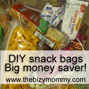 DIY School Snacks - BIG money saver!