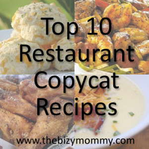 Copycat restaurant dishes at home
