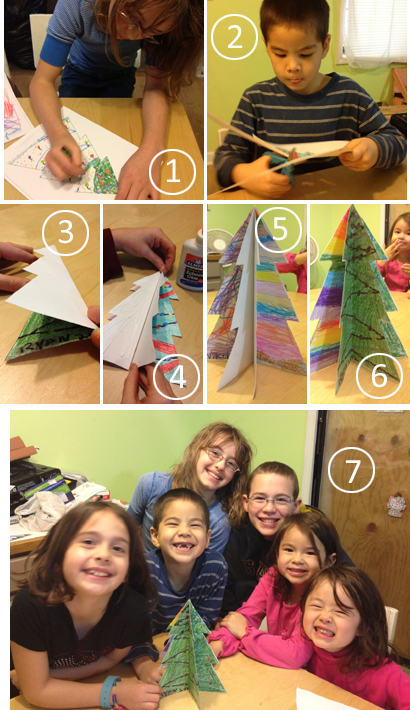 Keepsake paper christmas tree craft