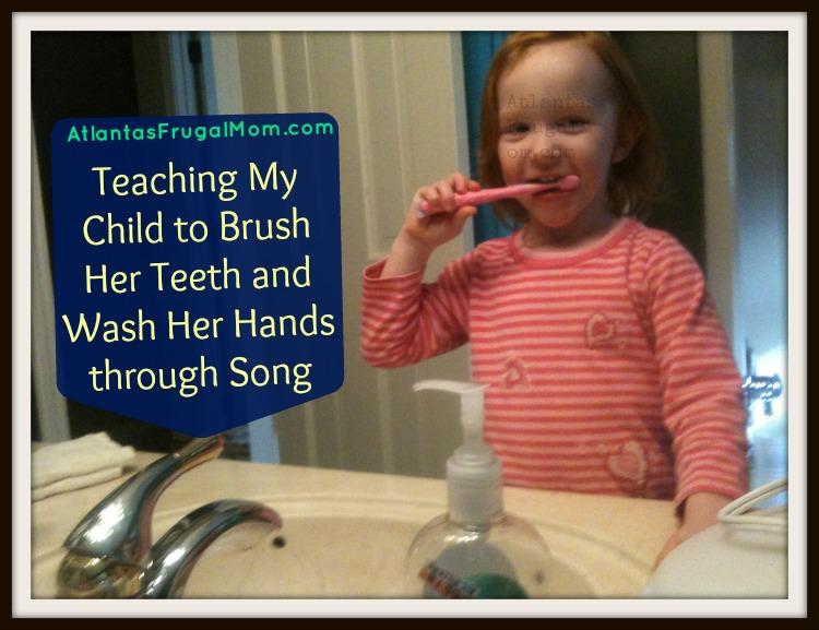 teaching my child to brush her teeth