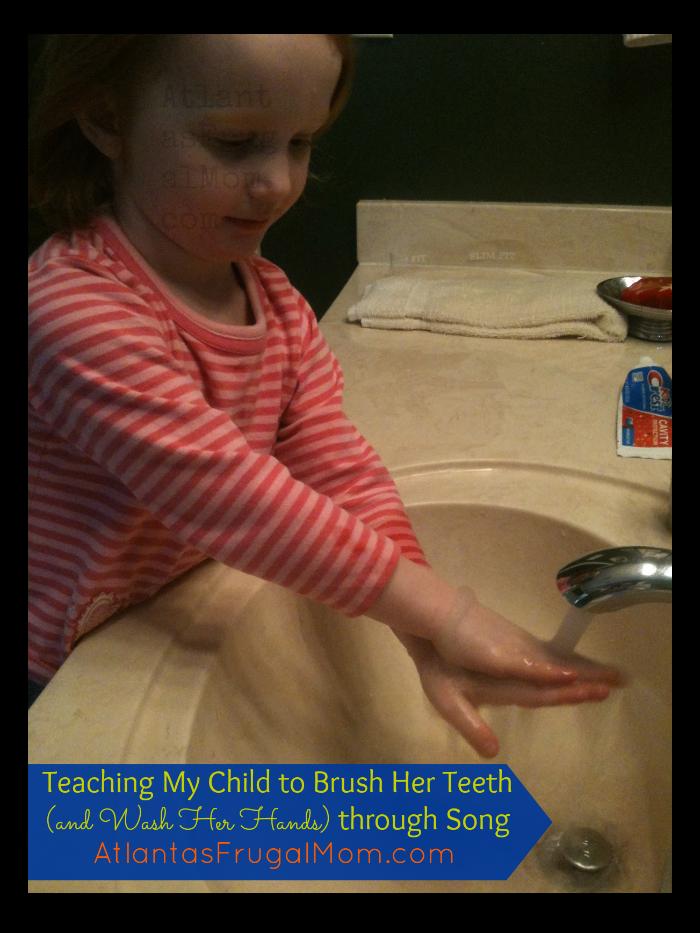 teaching my child to brush her teeth - washing-hands2