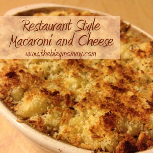 Restaurant Style Macaroni And Cheese