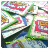 Box Tops for Education - scattered box tops
