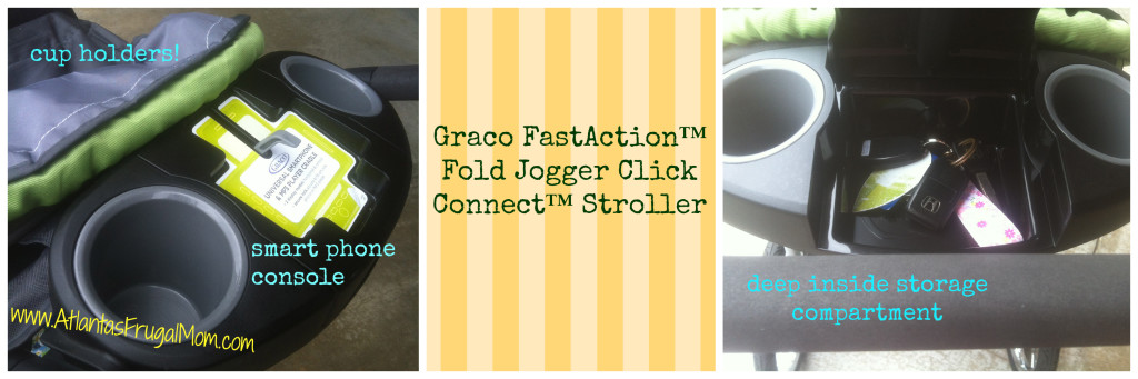 Graco FastAction™ Fold Jogger Click Connect™ Stroller parent console features