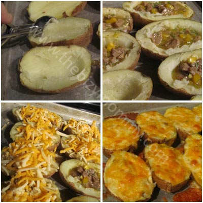 Twice baked breakfast potatoes