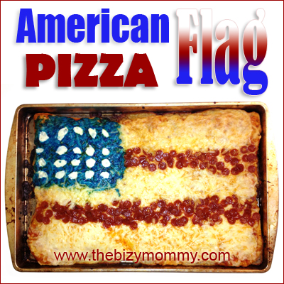 Red White and Blue Party Foods | American Flag Pizza