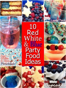 Red White and Blue Party Foods