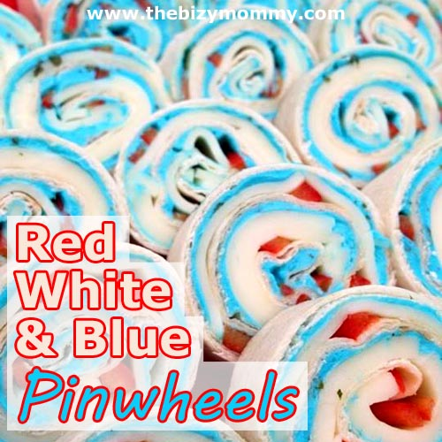 Red White and Blue Party Foods | Patriotic Pinwheels