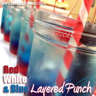 Red White and Blue layered party punch | Great for kids