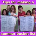 Tips for making a summer bucket list for your family