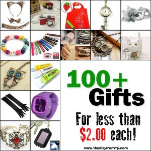 http://thebizymommy.com/100-gifts-can-buy-2-00-less/
