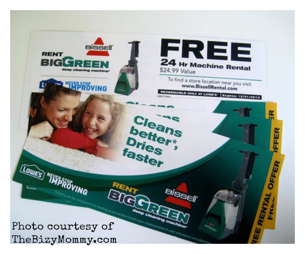 Big Green Deep Cleaning Machine vouchers