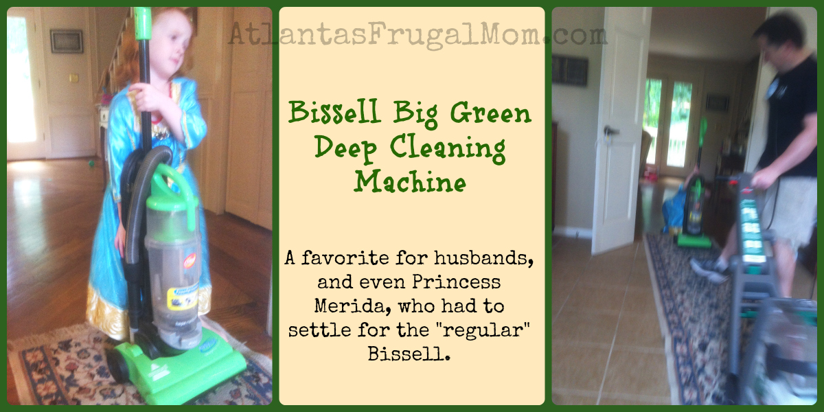 bissell big green deep cleaning machine princess husband collage
