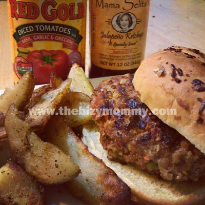 Grilled Vegetable Meatloaf Burgers