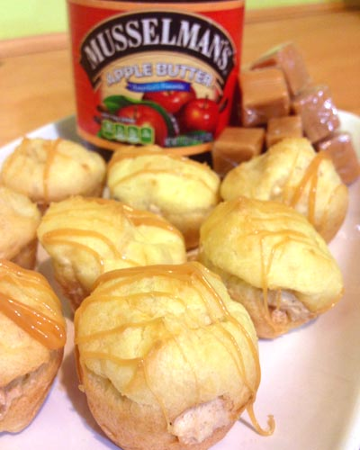 Caramel Apple Cream Puffs