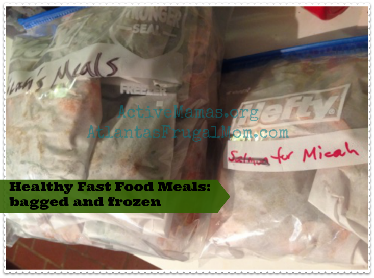 Healthy Fast Food Meals bagged frozen