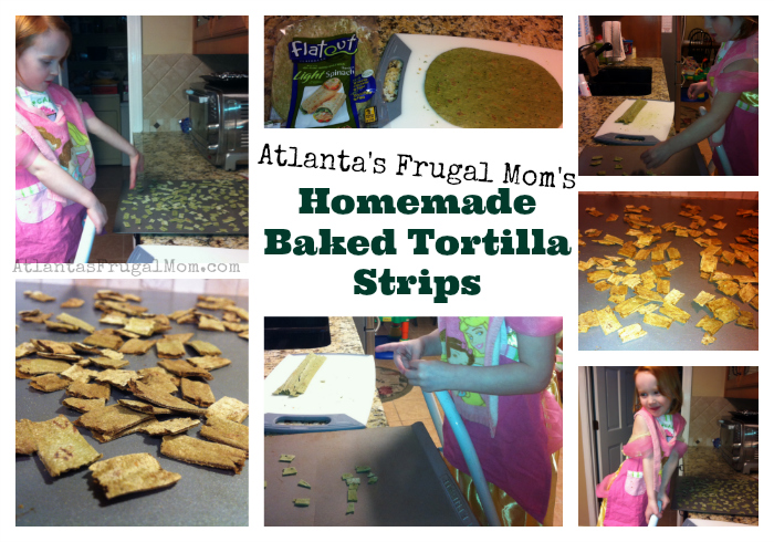 Homemade Baked Tortilla Strips Collage