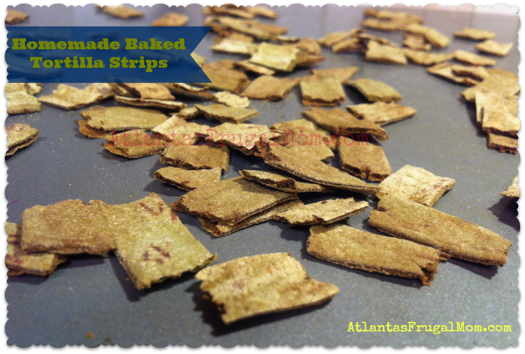 Homemade Baked Tortilla Strips