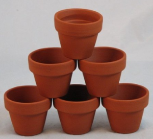 Frugal Teacher Gift Ideas - Paintable Flower Pots