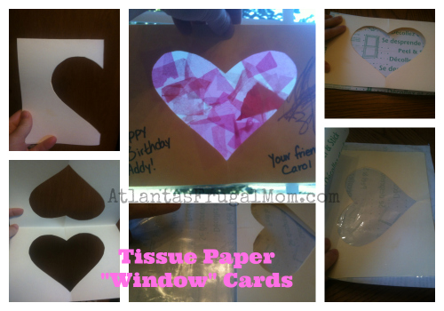 Frugal Teacher Gift ideas - Tissue Paper Window Cards