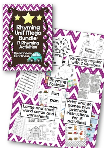 Rhyming with Preschoolers - Rhyming Unit Mega Bundle