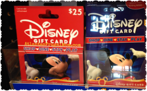 Frugal Disney Tips - Disney gift cards