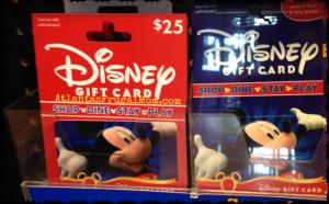 Frugal Disney Tips - Disney gift cards