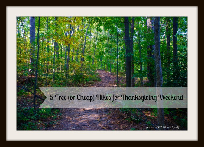 Thanksgiving Hikes in Atlanta
