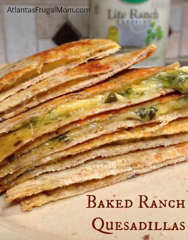 baked ranch quesadillas