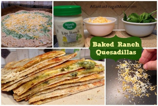 Baked Ranch Quesadillas collage