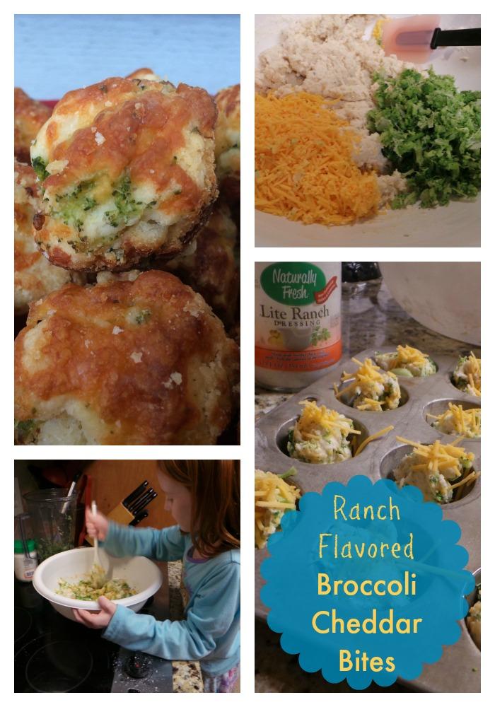 ranch-flavored broccoli cheddar bites