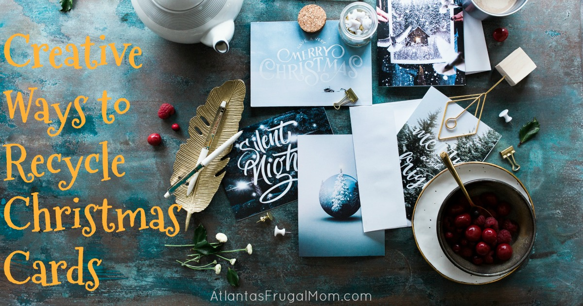 Creative ways to recycle christmas cards atlantas frugal mom for How to recycle old christmas cards