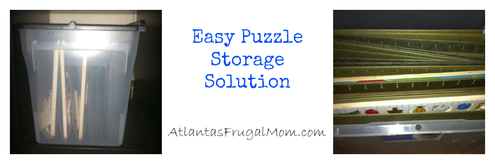 Easy Puzzle Storage Solution
